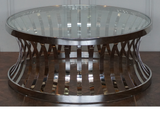 BOSTON COFFEE TABLE IN STAINLESS STEEL