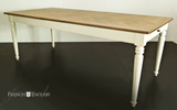 CAMBRIDGE EXTENSION DINING TABLE WITH PATTERNED OAK TOP - CLOSING DOWN PRICE - WAS $2495