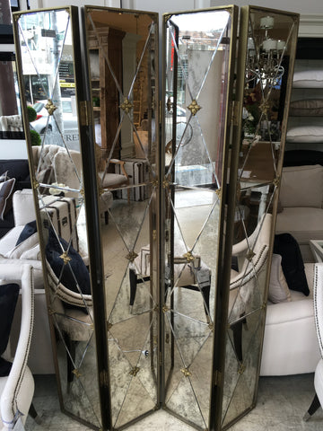 ART DECO MIRRORED SCREEN