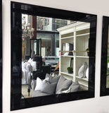 Square Bevelled Edge Mirror with Black Border - CLOSING DOWN PRICE - WAS $79