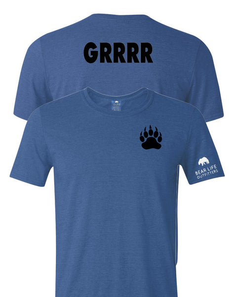 Bear Claw Left Chest Front GRRRR on the Back T-Shirt