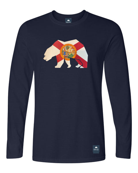 Florida Flag Bear Long Sleeve T-Shirt by Bear Life Outfitters