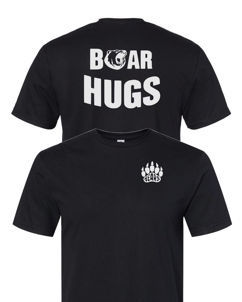 Bear Paw Left Chest with  Bear Hugs on back T-Shirt