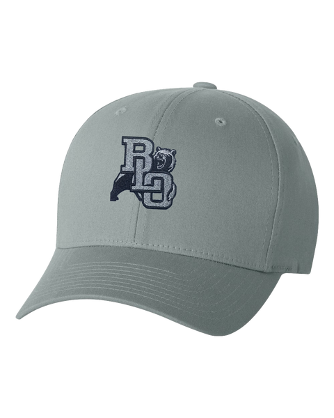 BLO Embroidered Grey Flex Fit Hat
