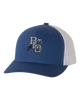 BLO Embroidered Royal/White Snap Back Hat