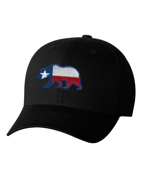 Texas Bear Black Flex Fit Hat