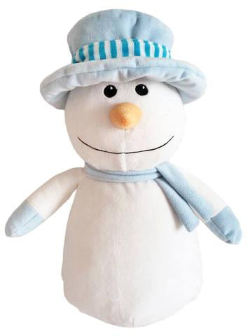 Snowman with blue hat