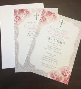 "5"" x 7"" Invitation (no envelope) - set of 5"
