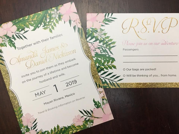 "5"" x 7"" Invitation - with or without envelope"