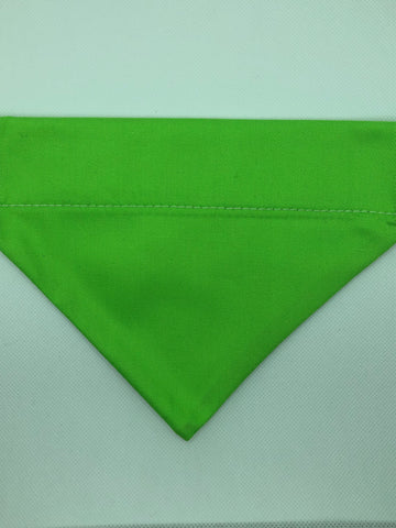 Dog Bandana - Lime Green 1