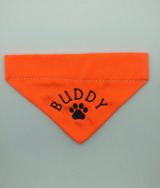 Dog Bandana - Orange Splatter