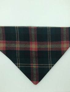 Dog Bandana - Green & Red Plaid