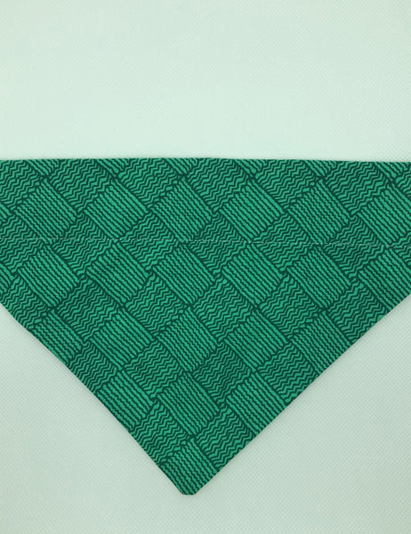 Dog Bandana - Green Squiggles