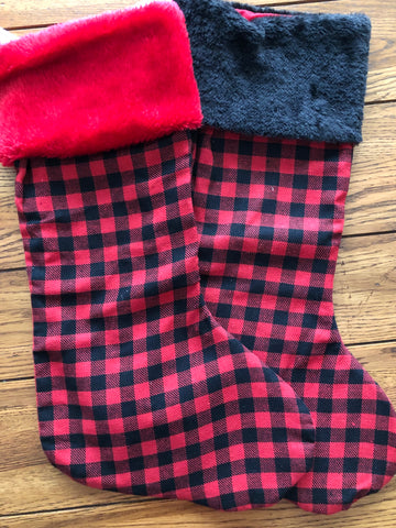 Stocking - Buffalo Plaid