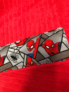 Hooded Towel - Red with Spiderman