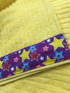 Hooded Towel - Yellow with Stars