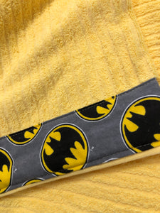 Hooded Towel - Yellow with Batman