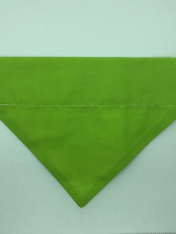 Dog Bandana - Lime Green 2
