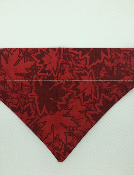 Dog Bandana -Red Maple Leaf