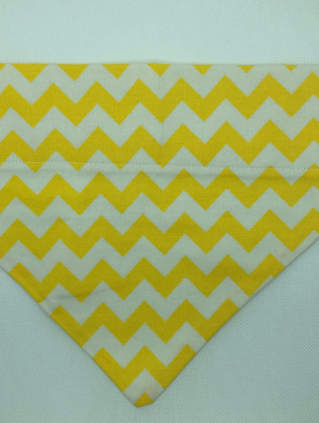 Dog Bandana - Yellow Chevron