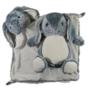 Large Blanket Buddy - Grey Bunny