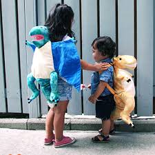 Blue Dino Backpack