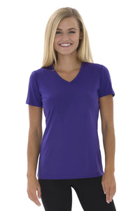 Short Sleeve V-Neck T-shirt (LADIES)