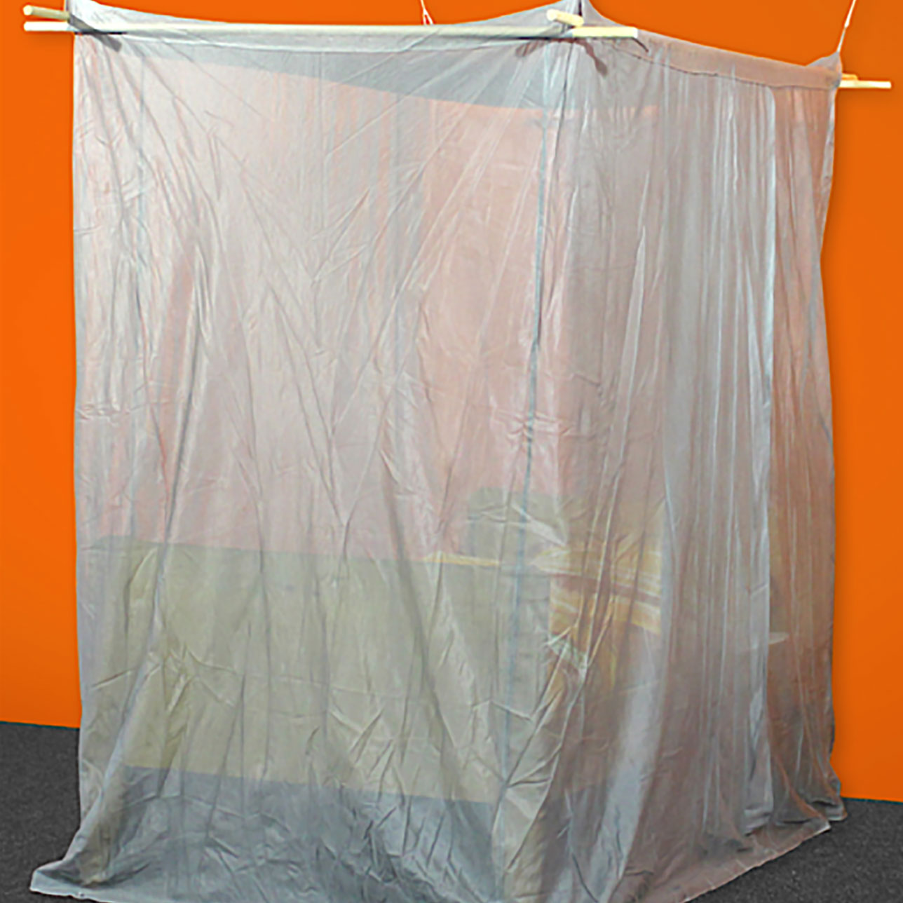 SILVER-TULLE Shielding Canopy for Single Bed (box shape)