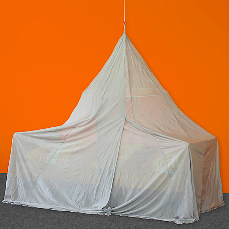 SILVER-TULLE Shielding Canopy for Single Bed (pyramid shape)