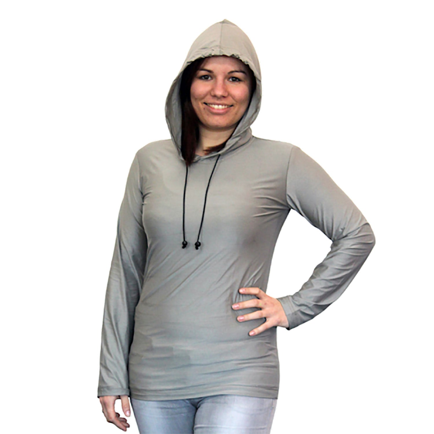 SILVER-ELASTIC Hoodie for Shielding High Frequency EMF (1 piece)