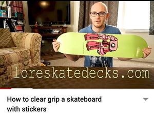 How to Clear Grip a Skateboard with Stickers by Matthew Brooks