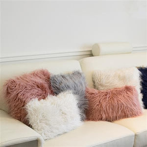 coussin fourure