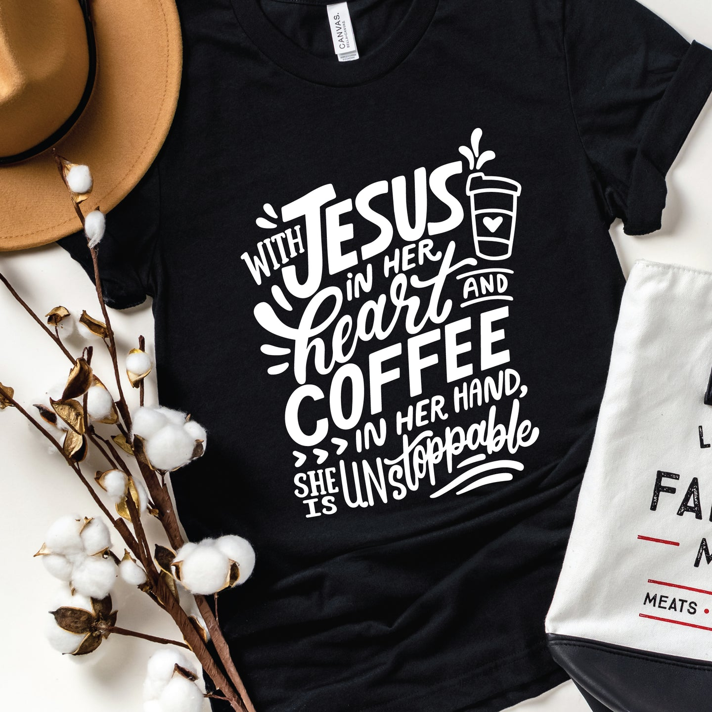 With Jesus In Her Heart , Graphic Tee