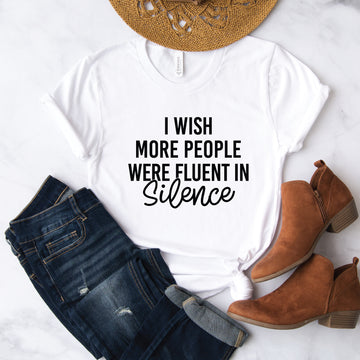 Fluent In Silence , Graphic Tee - makaylagrace