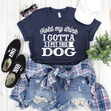 Gotta Pet This Dog , Graphic Tee - makaylagrace