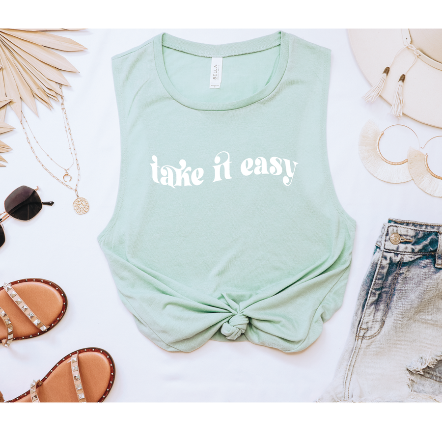 Take it Easy muscle tank - makaylagrace