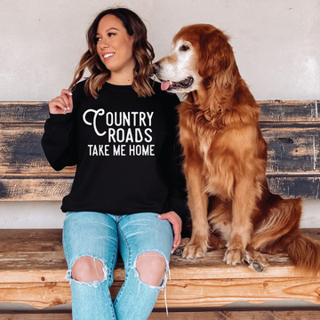 Country roads sweatshirt - makaylagrace