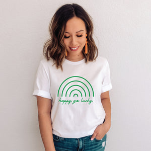 Happy Go Lucky St Patrick's Day T-Shirt - makaylagrace