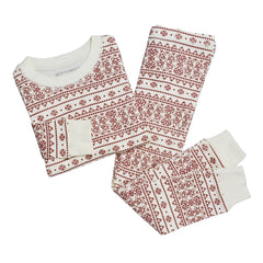 Fair Isle Organic Holiday Baby Pajamas