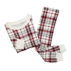big kids plaid pajama set