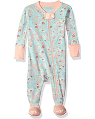 teal + pink flowered sleeper