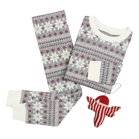fair isle pajamas + ornament set