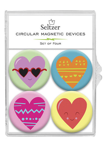 fun hearts magnet set