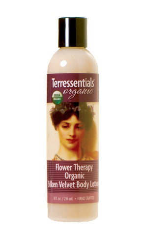 organic flower therapy silken velvet body lotion