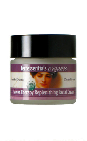 flower therapy replenishing facial cream