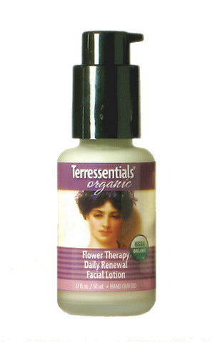 organic flower therapy renewal facial lotion