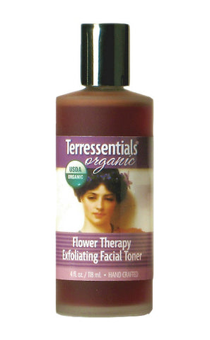 organic flower therapy exfoliating facial toner