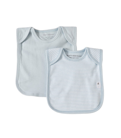 organic cotton set of 2 bibs