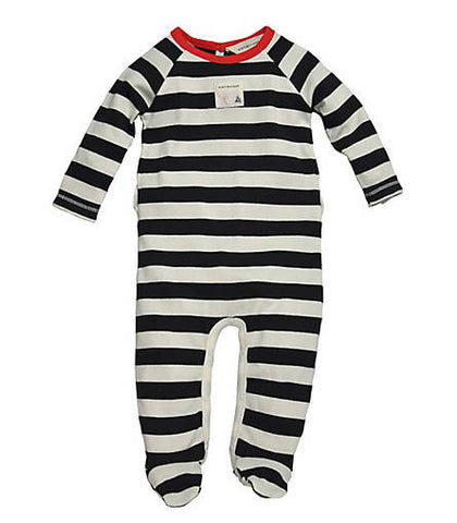 organic cotton striped coverall
