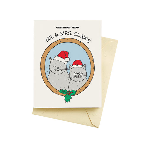 Mr. & Mrs. Claws Christmas card